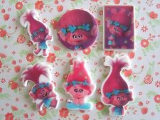 6 x Misto Poppy Troll Flatback planare Resina Abbellimento artigianato Fiocco per capelli