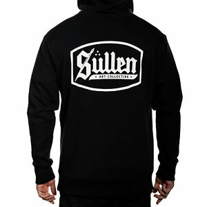 Sullen Men's Lincoln Lux Long Sleeve Pullover Hoodie Black Clothing Apparel T