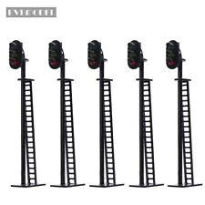 5pcs Model Railway 1:87 Block Signals G/Y/R HO OO Scale 8.2cm 12V Led JTD02