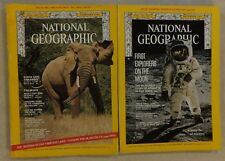 1969 NATIONAL GEOGRAPHIC FEBRUARY & DECEMBER MOON MAN'S FIRST GOAL & APOLLO 11