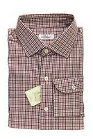 BELVEST by Finamore Napoli Shirt Cashmere Cotton Plaids & Checks 16 1/2 - 42 Reg