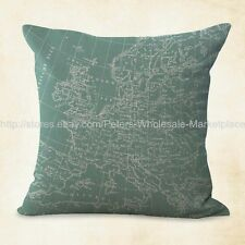 US SELLER-throw pillows covers for sofa world map vintage accent cushion cover
