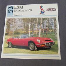 641C Edito Service Fiche Dépliant Jaguar Type E Roadster