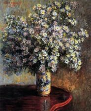 "Handmade Floral Oil Painting repro Claude Monet Asters 20""x24"""