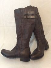 Pavers Brown Knee High Leather Boots Size 39