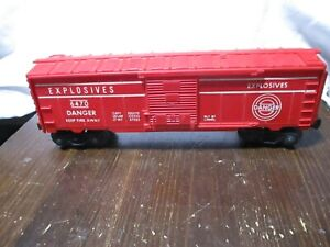 1959 LIONEL #6470 EXPLODING BOXCAR. PRE-OWNED . WORKS GREAT. EXCELLENT CONDITION