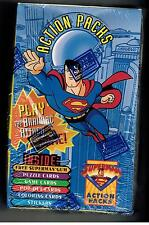SUPERMAN ACTION PACKS UNOPENED 48 PACK BOX CARDS STICKERS PUZZLE POPOUT