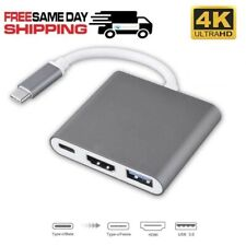 Type C USB 3.1 to USB-C HDMI Cable USB 3.0 Adapter 3 in 1 Hub For Macbook Pro 4K
