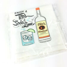 New Sealed 2018 Holiday Tito's Vodka Soda Lime 100% Cotton Taster Tea/Bar Towel
