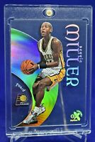 REGGIE MILLER E-X RAINBOW REFRACTOR ACETATE HOLO SP INDIANA PACERS