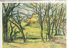 House Behind Trees  by Paul Cezanne  American Museum of Art  Postcard 2618