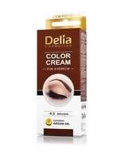 Delia Cosmetics Color Cream Crème Colorante pour Sourcils - Marron Foncée, 3.0