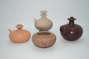 Collection of Majapahit Kingdom terracotta Kendi / jar Java Indonesia