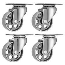 4 All Steel Swivel Plate Caster 35 Wheels Gray Heavy Duty Steel