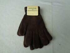 Child Boys John Kent Gloves Brown Color Black Color Trim Acrylic Material