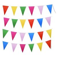F7M2 Multicolor Polyester Bunting Banner Double Sided Indoor/ Outdoor Party 10m