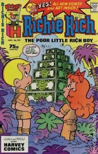Richie Rich #231 VG+ 4.5 1987 Stock Image Low Grade