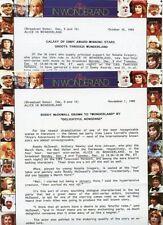 RODDY MCDOWALL SID CAESAR ALICE IN WONDERLAND ORIGINAL '85 CBS TV PRESS MATERIAL