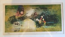 Hoi Lebadang Signed Numbered Lithograph Block Print Mid Century Vietnam France