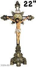 "Cruz de San Benito Crucifix 22"" Inch (Altar o Mesa) Cross Jesus New"