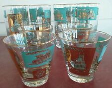 Vtg Riverboat Glasses(12) * Mid Century * Southern Comfort * Rocks * Hiball