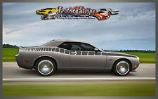 DODGE CHALLENGER SIDE STROBE DECAL GRAPHIC DECAL FACTORY STRIPE 2008-2009-2010