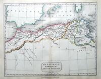 NORTH AFRICA,MAURITANIA, NUMIDIA  Original Classical Antique Map c1840