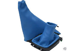 LIGHT BLUE FITS VAUXHALL OPEL ASTRA MK4 G COUPE 98-05 GEAR HANDBRAKE GAITERS