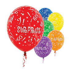 SURPRISE PRINTED  BALLOONS *** PACK OF 10 ***