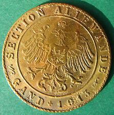 Old Belgium - G.F. 1coffee token - Gand - Section Allemande - 1913