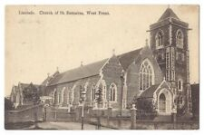 LINSLADE Church of St Barnabas West Front, Old Postcard Postally Used 1914