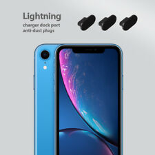 3 set pack iPhone XR Charging Port Cover Lightning Plug Anti Dust Silicone Cap