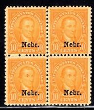 1¢ WONDER'S ~ US #679 MNH/MH BLK4 10¢ NEBRASKA OVPT (3 MNH 1 MH) HUGE CV ~ O832