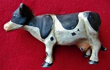 "RARE ANTIQUE HOLSTEIN CAST IRON COW BANK ~ 6"" LONG ~ NO RUST!"