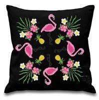 Pink Flamingo Pillow Cover - Mandala - PDF Pattern - Modern Cross stitch - 026