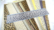 12 Pieces ANIMAL PRINT Wallpaper Remnants Collage Cards Scrapbook Journal Lot #1