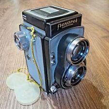 Rare Meopta Flexaret VI (6) TLR Camera 120 / 35mm Film + Belar 3.5/80 Lens, Case