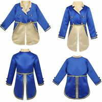 Kids Boys Tuxedo Jacket Tailcoat Halloween Cosplay Prince Costumes Pageant Wear