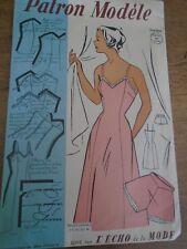 ANCIEN PATRON ECHO DE LA MODE French Pattern 1950 COMBI & CULOTTE chic  T 44