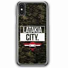 Latakia City Camouflage Syrien iPhone XS Hardcase Hülle Syrisch Syria Cover Cas