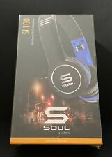SOUL by Ludacris SL100UB Headband Headphones - Black/Blue