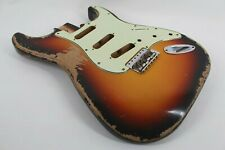 MJT Official Custom Vintage Age Nitro Guitar Body Mark Jenny VTS 3-Tone Sunburst
