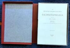 Amira DIE DRESDENER BILDERHANDSCHRIFT DES SACHSENSPIEGELS Facsimile Tafeln 1968
