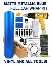 VViViD Matte Metallic Blue FULL CAR WRAP KIT with all tools & vinyl you'll need!