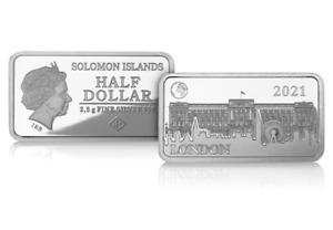 Limited Edition Buckingham Palace Silver Coin-Bar