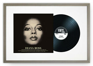 "Oxford Vinyl 12"" LP Record & Album Cover Grey Frame Memorabilia Wall Art 25x17"""