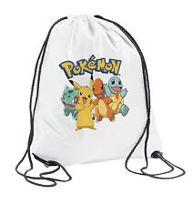 Pokemon Drawstring Bag PE School boys Girls Birthday Gift Kids