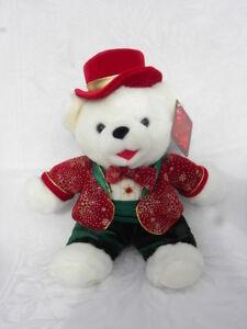 "2003 Walmart DanDee Collector's Choice Snowflake Friends Boy Christmas Bear 12"""