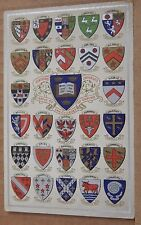 Postcard Oxford University Coats of Arms Heraldic shields unposted