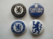 Chelsea FC Blues Fan Supporters Pack of 4 x 38mm wide Button Badges (Pk B)